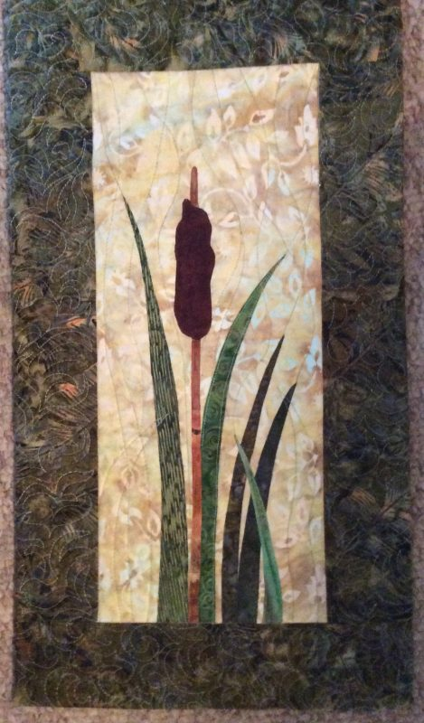 Marsh, Huntley Meadows, machine quilted, appliqué, Virginia