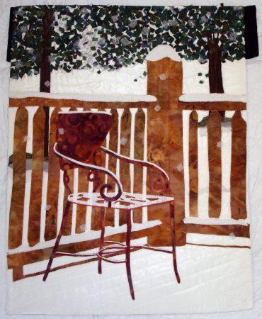 Winter quilt by Betsy True. Snow scene in Colorado